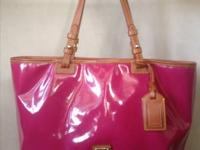 Large Dooney & Bourke purse / tote. Raspberry color