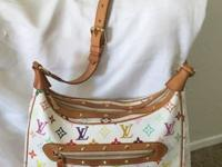 Authentic Louie Vuitton Multicolore Boulogne handbag.