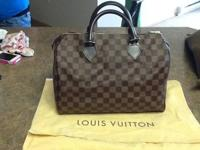 This is a brand new checkered Louis Vuitton speedy 30