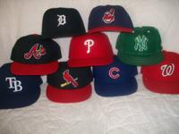 8 Authentic MLB Hats - $10 Dollars each.  KEEP IN MIND