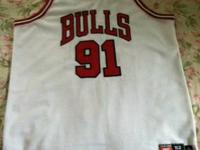 THIS IS AN AUTHENTIC NIKE HOME BULLS JERSEY. NO