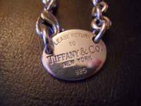 Rarely worn authentic Tiffany & Co Sterling Silver oval