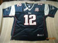 One XL Authentic Tom Brady Jersey for sale. A high