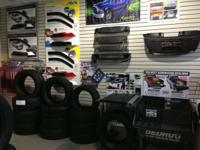 I carry a full line of car/truck accessories at my tire