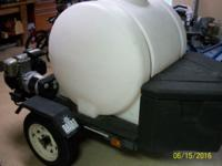 Mobile Auto Detailing Trailer with storage box in good