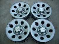 4- 17 chev truck wheels .$90.. cash. Calls only.