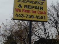 AUTO RENTAL EXPRESS on REISTERSTOWN RD. RENTS FOR CASH