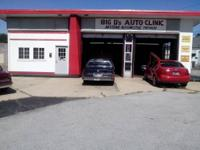 this is a 2 bay auto repair shop on the corner of troy