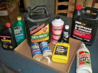 cleaning out garage,  2- 10w30 oil  1-gallon
