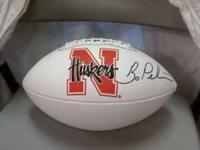 Nebraska autograph football Coach Bo Pelini 75.00