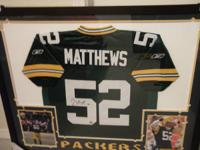 We have this beautiful Packers jersey autographed by