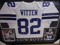 We have this beautiful Cowboys jersey autographed by