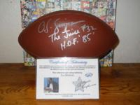 Rare Autograph O J Simpson football inscribed the juice