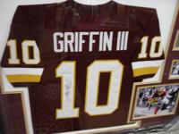 We have this beautiful Redskins jersey autographed by