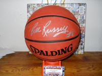 Boston Celtics great Bill Russell autographed