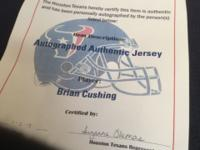 One original autographed Brian Cushing Texan Jersey