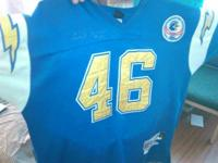Autographed Chuck Muncie jersey with C.O.A. Jersey worn
