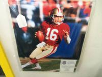Autographed Joe Montana 16x20 with COA (Certificate of
