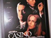CASINO: Full Size Movie Poster: Signed by Sharon Stone,