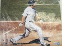 "Autographed 16x20 Johnny Damon ""Horizontal Swing"