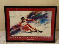 Vintage Aspen Men's Skiing World Cup Posters (4) FOR