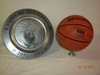 Autographed Trail Blazer Basketball And Commemoritive