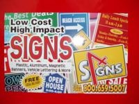 OVER 25 YEARS EXPERIENCE+ WE OFFER---BANNERS---MAGNETIC