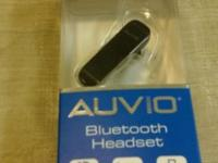 This listing is for an Auvio Bluetooth Headset (black)