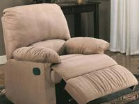 AVA RECLINER *Covered in a super soft microfiber *Very