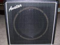 For sale is a 1 x 12 inch speaker cabinet from Avatar