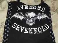 This is a black small a7x halter top. Very cute. Never