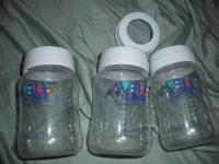 Avent 8 oz bottles, with Rings, no nipples or lids