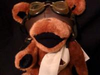 This Aviator jointed bear is in ideal condition, and is