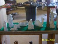 Nice 14 piece Nativity set from Avon made in 1980's