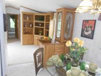 16x80, 3 bedroom, 2 bath, hardboard siding, shingled