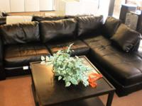 Really Nice Black Leather sectional only $21.95 a week.
