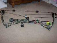 Bowtech 101st Airborne Bow with arrow rest, sight &