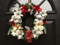 small 18 inch handmade Christmas wreath 35.00 and big