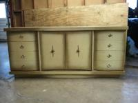 Awesome! Vintage Mid-Century Modern Wood Dresser.