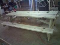 I build very well built Picnic Tables. All tables built