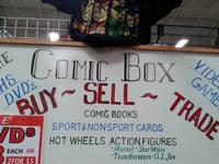 HI MY NAME IS JOE I OWN THE COMIC BOX 7660 STOCKTON