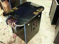 Custom Built ms pac man Cocktail Arcade Game with 60 of