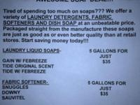 Tired of spending too much on soap???? We offer a