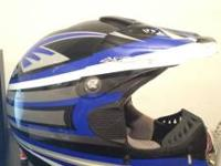 Azonic dirt bike helmet text only