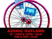 "IF YOU USE YOU KNOW AZONIC !!! 26"" X 135MM AND 150MM ="