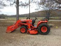 B-7800 Kubota Tractor 30 horse power One owner