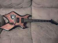 I have a B.C. rich warlock and beringer 10watt amp. The