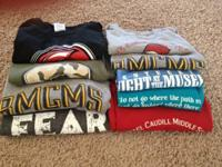 8 B Michael Caudill t- shirts adult size s-m. 7 short