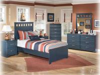 This Leo youth bedroom includes dresser, mirror, twin
