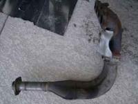 B18 Stock Header manifold with heat shield. WITH